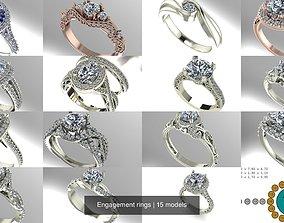 Engagement rings 3D model