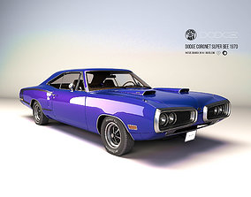 3D model Dodge coronet superbee 1970