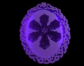 Celtic Knot Snowflake Pendant 3D print model