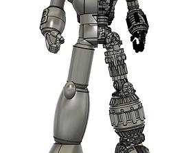 30cm tetsujin 28 half mechanic statue figure 3d models