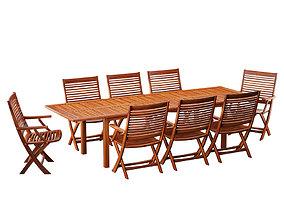 3D model Garden Table 08