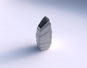 Vase bent rectangle with smooth ribbons 3D printable model