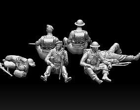 British soldiers ww2 3D printable model