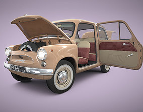 Car ZAZ-965 russian retro car 1960-69 3D asset