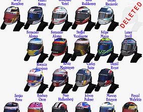 Helmets 2017 Formula 1 3D asset