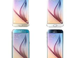 3D model Samsung Galaxy S6 All Colors
