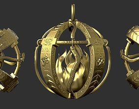 Traditional Indian Pendant 3D printable model style