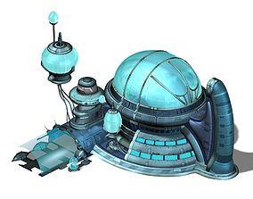 3D model Future World - Undersea Building 01