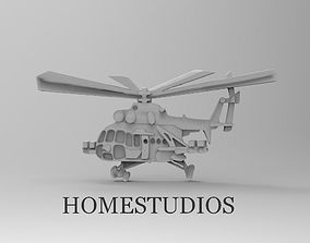 CUFFLINK HELICOPTER for Milling 3D print model