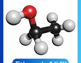 Ethanol 3D Model C2H5OH