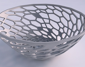 3D print model Bowl wide with faceted organic lattice