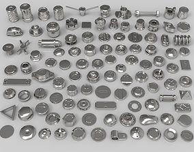 bolts and knobs-part-6 - 108 pieces 3D model