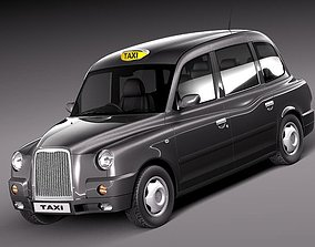 3D model London Taxi TX4