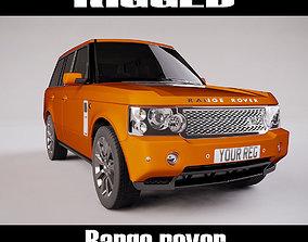 3D asset Range Rover Rigged