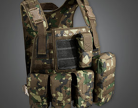 MLT - Military Tactical Soldier Vest 01 - PBR 3D asset 1