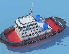 3D asset tug boat