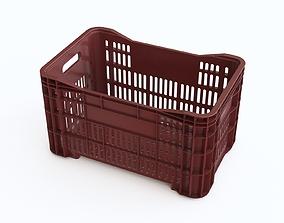 3D model Plastic crate 23
