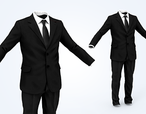 3D model low-poly Business Suit Man