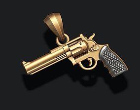 3D printable model jewel Gun pendant