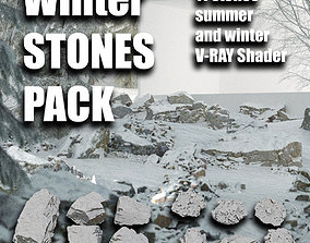 3D model Winter rocks A Pack