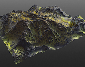 Mossy Mountain PBR 3D model cliff