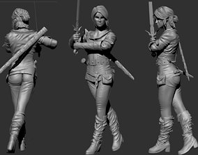 Ciri from Witcher 3 3D printable model