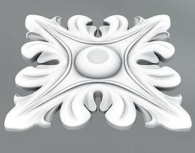 Square decoration decorate 3D model