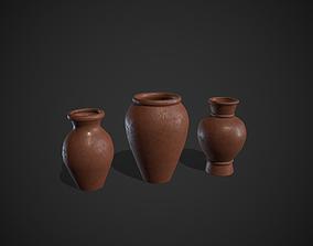 Clay Pots Vase 3D asset