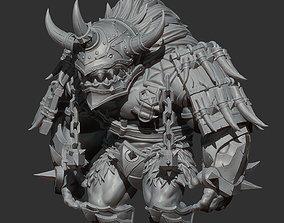 Orc Dwarf Warrior ZBrush 3d model