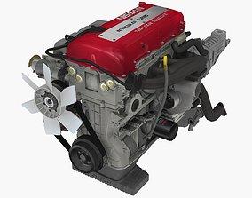 Nissan SR20DET Red Top engine 3D asset