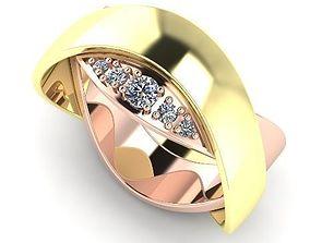 3D print model Women s double-sided ring 34