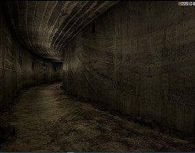 Old Concrete Wall 01 13 L 3D model