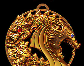pendant dragon 3D printable model