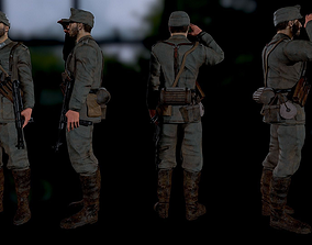 Wehrmacht soldier 3D model game-ready