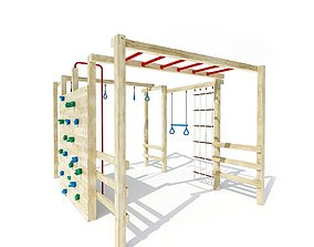 exterior Kids Playground Jungle Gym 3D