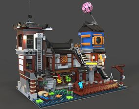 Lego Ninjago city 3D asset