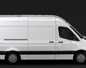 3D model Mercedes Benz Sprinter Panel Van L2H2 RWD 2019