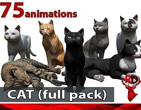3D model Cat full pack