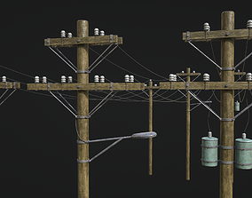 3D asset High Voltage Lines