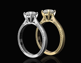 3D print model Solitaire ring with filigree