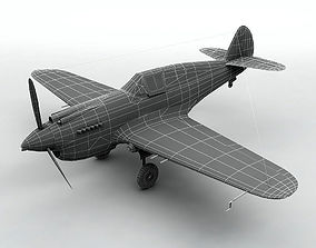 Curtiss P40-B Aircraft 3D model
