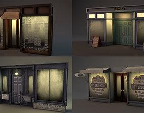 Aged Vintage Storefronts 3D