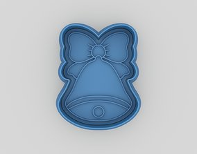 Christmas bell cookie cutter 3D printable model