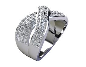 white Fancy Woman Diamond Ring 3D print model