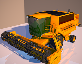 3D model rigged Harvester