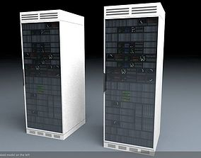 Server Rack Unit Low Poly Game Ready 3D model