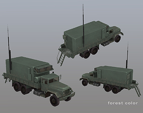 MIM-104 Patriot AN-MSQ-104 Truck 3D model