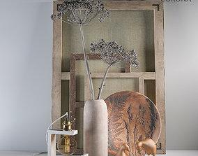 Decorative set - Dried flowers 3D