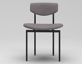 Dark Grey And Black Chair 3D