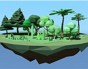 3D model realtime Tree Pack